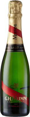 17,95 € Free Shipping | White sparkling G.H. Mumm Cordon Rouge Brut Gran Reserva A.O.C. Champagne France Pinot Black, Chardonnay, Pinot Meunier Half Bottle 37 cl