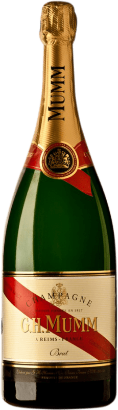 76,95 € Free Shipping | White sparkling G.H. Mumm Cordon Rouge Brut Gran Reserva A.O.C. Champagne France Pinot Black, Chardonnay, Pinot Meunier Magnum Bottle 1,5 L