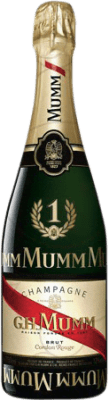 27,95 € Free Shipping | White sparkling G.H. Mumm Cordon Rouge Formula 1 Brut Gran Reserva A.O.C. Champagne France Pinot Black, Chardonnay, Pinot Meunier Bottle 75 cl | Thousands of wine lovers trust us to get the best price guarantee, free shipping always and hassle-free shopping and returns.