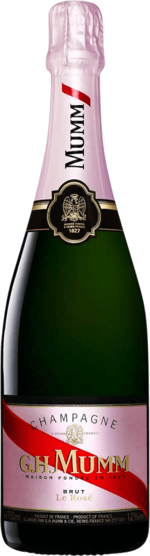 41,95 € Free Shipping | Rosé sparkling G.H. Mumm Cordon Rouge Brut Gran Reserva A.O.C. Champagne France Pinot Black, Chardonnay, Pinot Meunier Bottle 75 cl