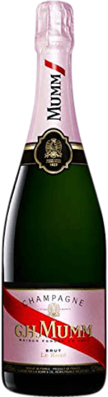 81,95 € Free Shipping | Rosé sparkling G.H. Mumm Cordon Rouge Brut Gran Reserva A.O.C. Champagne France Pinot Black, Chardonnay, Pinot Meunier Magnum Bottle 1,5 L