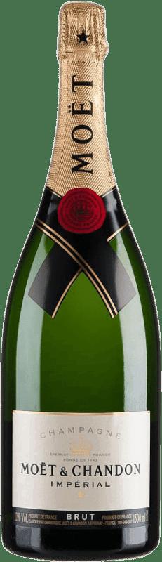81,95 € Free Shipping | White sparkling Moët & Chandon Estoig Brut Gran Reserva A.O.C. Champagne France Magnum Bottle 1,5 L