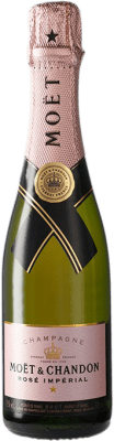 29,95 € Free Shipping | Rosé sparkling Moët & Chandon Rosé Imperial Brut Gran Reserva A.O.C. Champagne France Pinot Black, Chardonnay, Pinot Meunier Half Bottle 37 cl