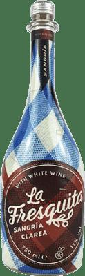 7,95 € Envío gratis | Sangría Sort del Castell La Fresquita Clarea España Botella 75 cl