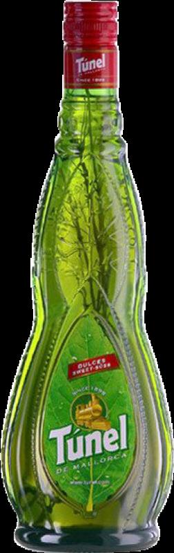 9,95 € Envío gratis | Digestivo Antonio Nadal Tunel Hierbas Dulce España Botella Misil 1 L