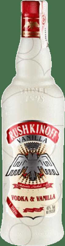 9,95 € Envío gratis | Vodka Antonio Nadal Rushkinoff Vanilla España Botella Misil 1 L