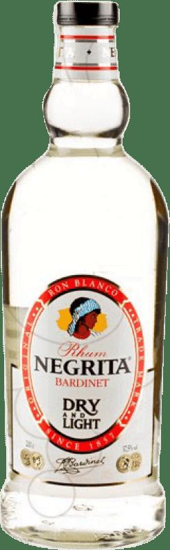 17,95 € Envío gratis | Ron Bardinet Negrita Double Silver Blanco España Botella Especial 2 L