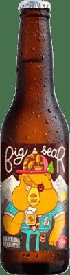 1,95 € Envoi gratuit | Bière Barcelona Beer Big Bear Pale Ale Gluten Free Espagne Botellín Tercio 33 cl