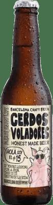 1,95 € Envoi gratuit | Bière Barcelona Beer Cerdos Voladores IPA Espagne Botellín Tercio 33 cl