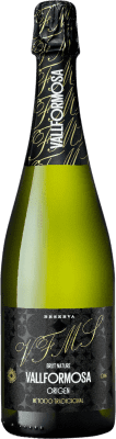 5,95 € Free Shipping | White sparkling Caves Vallformosa Origen Brut Nature Joven D.O. Cava Catalonia Spain Macabeo, Xarel·lo, Parellada Bottle 75 cl | Thousands of wine lovers trust us to get the best price guarantee, free shipping always and hassle-free shopping and returns.