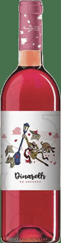4,95 € Free Shipping | Rosé wine Garriguella Dinarells Joven D.O. Empordà Catalonia Spain Tempranillo, Grenache, Mazuelo, Carignan Bottle 75 cl