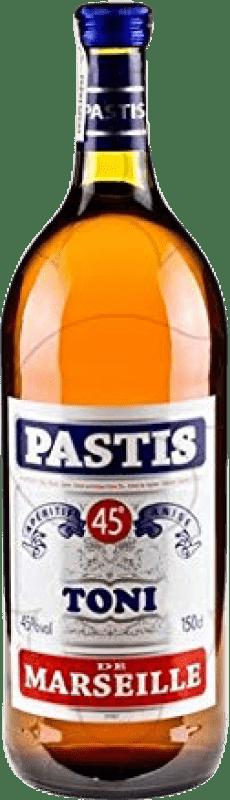 13,95 € Envío gratis   Pastis Toni Francia Botella Mágnum 1,5 L