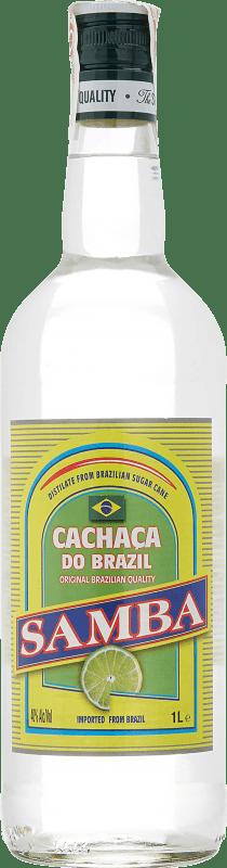 9,95 € Envío gratis | Cachaza Samba Brasil Botella Misil 1 L