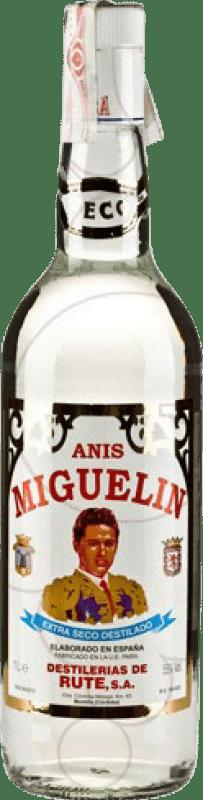 14,95 € Envío gratis | Anisado Anís Miguelín Seco España Botella Misil 1 L