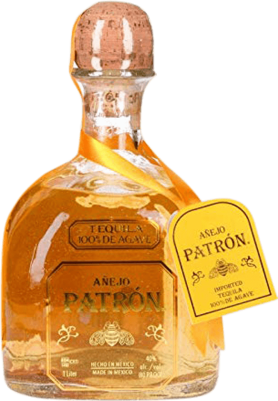 54,95 € Free Shipping | Tequila Patrón Añejo Mexico Missile Bottle 1 L