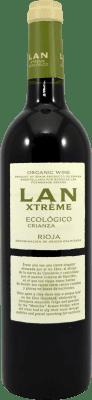 9,95 € Envío gratis | Vino tinto Lan Xtreme Ecológico Crianza D.O.Ca. Rioja La Rioja España Botella 75 cl