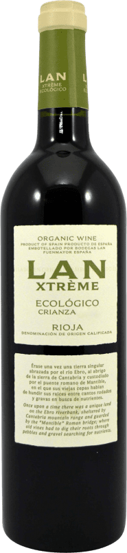 9,95 € Envío gratis   Vino tinto Lan Xtreme Ecológico Crianza D.O.Ca. Rioja La Rioja España Botella 75 cl