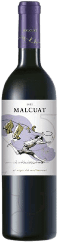 9,95 € Kostenloser Versand | Rotwein Malcuat Joven D.O. Empordà Katalonien Spanien Merlot, Syrah, Grenache Flasche 75 cl