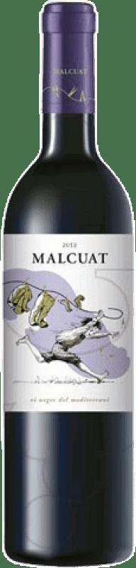 9,95 € Spedizione Gratuita | Vino rosso Malcuat Joven D.O. Empordà Catalogna Spagna Merlot, Syrah, Grenache Bottiglia 75 cl