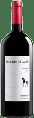 15,95 € Free Shipping | Red wine Pirineos Señorío de Lazán Crianza D.O. Somontano Aragon Spain Tempranillo, Merlot, Cabernet Sauvignon Magnum Bottle 1,5 L