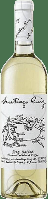 27,95 € Envio grátis | Vinho branco Santiago Ruiz Joven D.O. Rías Baixas Galiza Espanha Godello, Loureiro, Treixadura, Albariño, Caíño Branco Garrafa Magnum 1,5 L