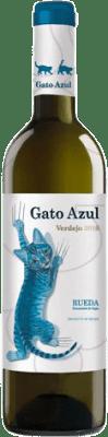 11,95 € Envío gratis | Vino blanco El Gato Azul Joven D.O. Rueda Castilla y León España Verdejo Botella 75 cl