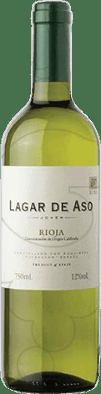 4,95 € Envio grátis | Vinho branco Lagar de Aso Blanc Joven D.O.Ca. Rioja La Rioja Espanha Macabeo Garrafa 75 cl