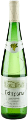 5,95 € Бесплатная доставка | Белое вино Txinparta Joven Ла-Риоха Испания Hondarribi Zuri, Hondarribi Beltza бутылка 75 cl
