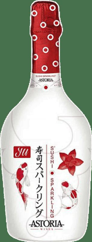 51,95 € Free Shipping | White sparkling Astoria Yu Sushi Sparkling Extra Brut Joven Otras D.O.C. Italia Italy Glera, Prosecco Jéroboam Bottle-Double Magnum 3 L