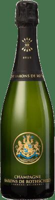 37,95 € Envío gratis | Espumoso blanco Barons de Rothschild Brut Gran Reserva A.O.C. Champagne Francia Pinot Negro, Chardonnay, Pinot Meunier Botella 75 cl