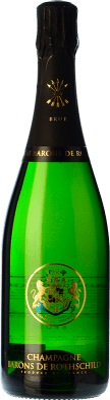 37,95 € Kostenloser Versand | Weißer Sekt Barons de Rothschild Brut Gran Reserva A.O.C. Champagne Frankreich Pinot Schwarz, Chardonnay, Pinot Meunier Flasche 75 cl
