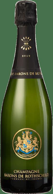 46,95 € Free Shipping | White sparkling Barons de Rothschild Brut Gran Reserva A.O.C. Champagne France Pinot Black, Chardonnay, Pinot Meunier Bottle 75 cl