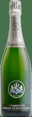 52,95 € Kostenloser Versand | Weißer Sekt Barons de Rothschild Blanc de Blancs Brut Gran Reserva A.O.C. Champagne Frankreich Chardonnay Flasche 75 cl