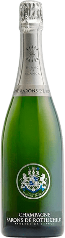 61,95 € Free Shipping | White sparkling Barons de Rothschild Blanc de Blancs Brut Gran Reserva A.O.C. Champagne France Chardonnay Bottle 75 cl