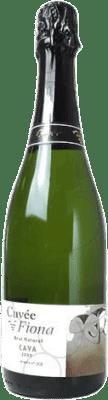 13,95 € Envio grátis | Espumante branco Cuvée Fiona Brut Nature Joven D.O. Cava Catalunha Espanha Macabeo, Xarel·lo, Parellada Garrafa 75 cl