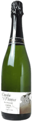 9,95 € Free Shipping | White sparkling Cuvée Fiona Brut Nature Joven D.O. Cava Catalonia Spain Macabeo, Xarel·lo, Parellada Bottle 75 cl