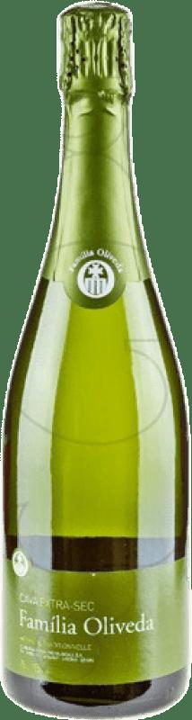 5,95 € Envio grátis | Espumante branco Familia Oliveda Seco D.O. Cava Catalunha Espanha Macabeo, Xarel·lo Garrafa 75 cl