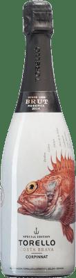 14,95 € Kostenloser Versand | Weißer Sekt Torelló Costa Brava Brut Reserva D.O. Cava Katalonien Spanien Flasche 75 cl