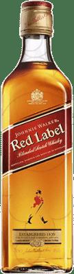 17,95 € Free Shipping | Whisky Blended Johnnie Walker Red Label United Kingdom Missile Bottle 1 L