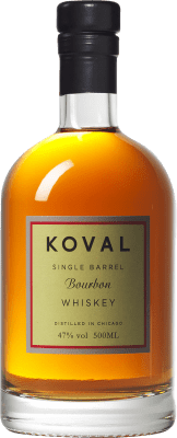52,95 € Free Shipping | Bourbon Koval Reserva United States Half Bottle 50 cl