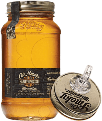 38,95 € Free Shipping | Whisky Blended Ole Smoky Harley Davidson Reserva United States Half Bottle 50 cl