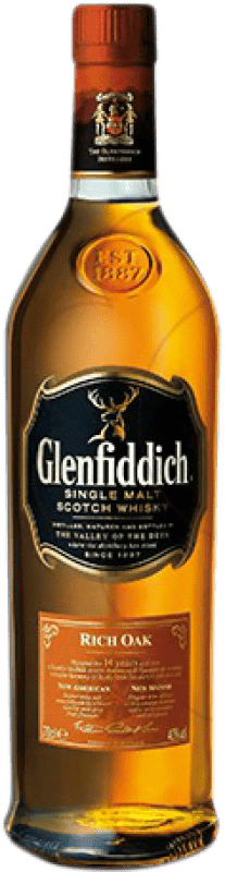 34,95 € Free Shipping | Whisky Single Malt Glenfiddich Rich Oak 14 Años United Kingdom Bottle 70 cl