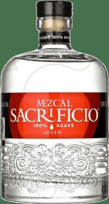 38,95 € Kostenloser Versand | Mezcal Sacrificio Blanco Mexiko Flasche 70 cl