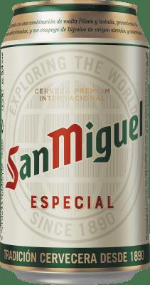 0,95 € Kostenloser Versand   Bier Cervezas San Miguel Spanien Lata 33 cl