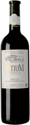 36,95 € Free Shipping | Red wine Piérola Vitium Reserva D.O.Ca. Rioja Spain Tempranillo Bottle 75 cl