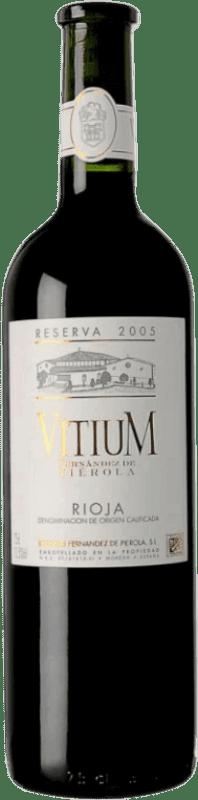 36,95 € Free Shipping | Red wine Piérola Vitium Reserva D.O.Ca. Rioja Spain Tempranillo Bottle 75 cl