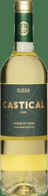 7,95 € Spedizione Gratuita | Vino bianco Thesaurus Castical Joven D.O. Rueda Castilla y León Spagna Verdejo, Sauvignon Bianca Bottiglia 75 cl