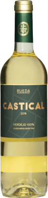 5,95 € Envío gratis | Vino blanco Thesaurus Castical Joven D.O. Rueda Castilla y León España Verdejo, Sauvignon Blanca Botella 75 cl