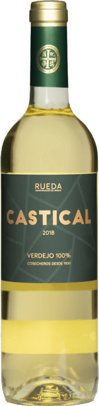 7,95 € Free Shipping | White wine Thesaurus Castical Joven D.O. Rueda Castilla y León Spain Verdejo, Sauvignon White Bottle 75 cl