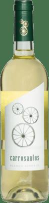 2,95 € 免费送货 | 白酒 Thesaurus Carrosantos Joven I.G.P. Vino de la Tierra de Castilla y León 卡斯蒂利亚莱昂 西班牙 Viura, Verdejo, Sauvignon White 瓶子 75 cl